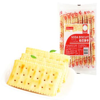 铁尺(Biando) 奶盐味苏打饼干 梳打饼干 休闲零食蛋糕面包甜点心小吃 酥脆可口 独立小包装 540g