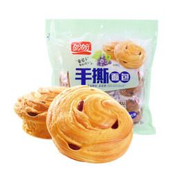 盼盼 手撕面包 早餐饼干糕点休闲零食 葡萄干味480g *11件