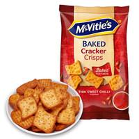 英国进口 麦维他(Mcvitie's)泰式甜辣味薄脆饼干 早餐零食150g *10件