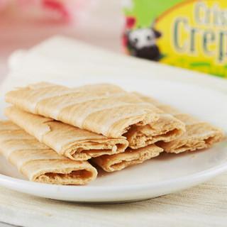 马来西亚进口 爱芙(Alfredo)榴莲味薄脆卷蛋卷 进口饼干休闲零食256g