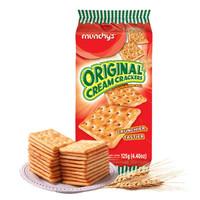 马来西亚进口 马奇新新(munchy's)原味苏打饼干125g 发酵酥性饼干 *29件