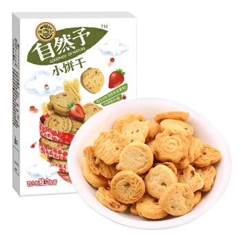 徐福记 自然予小饼干 (100g 、草莓味、盒装、4小包)
