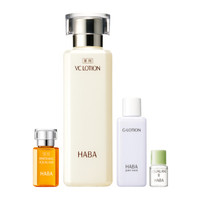 HABA  美白沁润套装 柔肤水180ml+美容油4ml+ 美容油15ml+柔肤水20ml