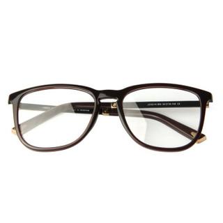 Jimmy Orange 眼镜框男女款时尚板材全框眼镜架 JO3216 BK 亮黑色 配1.67近视镜片