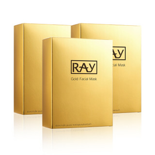 RAY 蚕丝补水保湿面膜 10片*3盒
