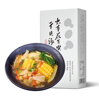 龙江人家 虫草花芡实干贝煲汤81g 靓汤炖品组合食材