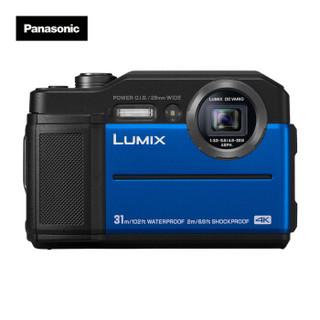 Panasonic 松下 TS7 数码相机 (蓝色、28-128mm、2040万、1/2.3英寸)