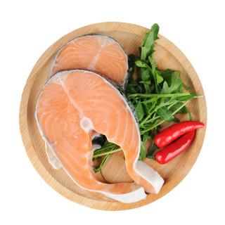 SOLID STANDARD 纯色本味 轮切三文鱼排(大西洋鲑)烧烤 500g/袋 2-3片 生鲜 食材 海鲜水产