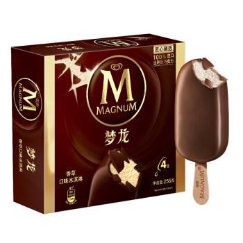 和路雪 梦龙 香草口味 冰淇淋家庭装 64g*4支雪糕(新老包装 随机发货)