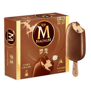 和路雪 梦龙 卡布基诺口味 冰淇淋家庭装 64g*4支雪糕(新老包装 随机发货)