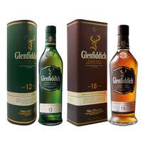 格兰菲迪12年单一麦芽威士忌700ml+格兰菲迪18年单一麦芽威士忌700ml