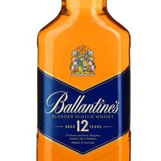 百龄坛(Ballantine's)洋酒 12年 经典调配 苏格兰 威士忌 500ml