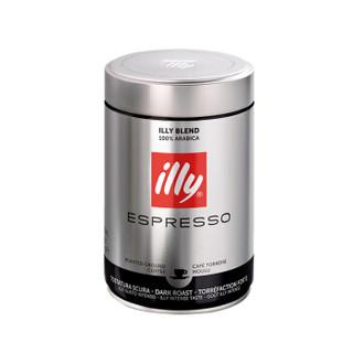 意大利进口 意利(illy)浓缩咖啡粉250g(深度烘焙)*2罐组合装