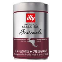 意大利illy意利精选危地马拉咖啡豆250g罐装意式阿拉比卡 *2件