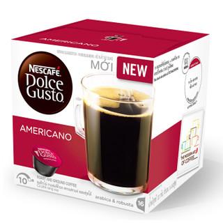越南进口 美式经典 雀巢多趣酷思(Dolce Gusto) 黑咖啡胶囊  研磨咖啡粉 16颗装