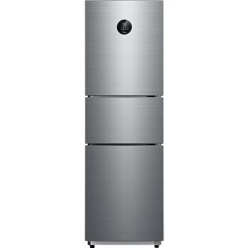 美的(Midea)260升 风冷无霜三门冰箱小型家用一级能效双变频冷藏冷冻省电节能环保保鲜  BCD-260WTPZM(E)