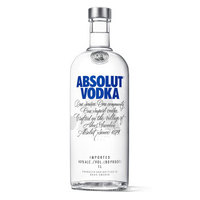 绝对伏特加(Absolut Vodka)洋酒 伏特加 1000ml(1L)