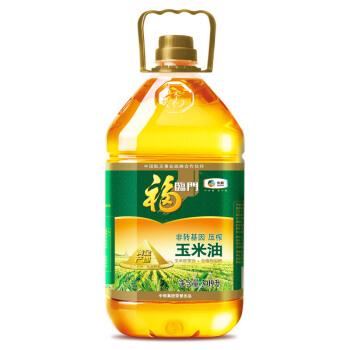福临门 食用油 非转基因压榨玉米油 3.09L/瓶