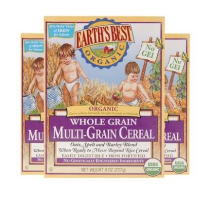 EARTH'S BEST 世界最好 有机混合谷物高铁营养米粉 3盒装 *2件