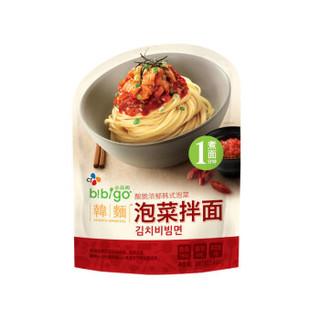 bibigo 必品阁 韩式泡菜拌面 (241g、麻辣味、袋装)