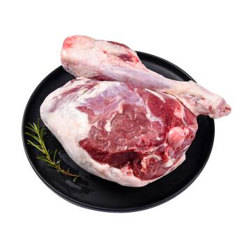 西鲜记 盐池滩羊 羔羊后腿1.7kg/袋 精选180天乳嫩羔羊 烧烤食材