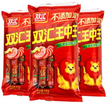 Shuanghui 双汇 无淀粉火腿肠 (1200g、袋装、3袋)