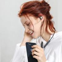 Whizzer 威泽 OH1高音质蓝牙耳机无线跑步运动入耳式定制重低音炮耳返挂脖款 (典雅黑、通用、入耳式)