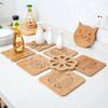 雅高 木质卡通隔热垫餐桌垫 8片装 YG-Q083 *2件 34.9元(合17.45元/件)