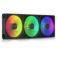 CoolerMaster 酷冷至尊 MasterFan SF360R ARGB 一体式机箱风扇(均衡型风扇/配控制器/ARGB灯效)