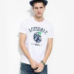 Lonsdale 龙狮戴尔 13220904701 男装纯棉短袖印花T恤