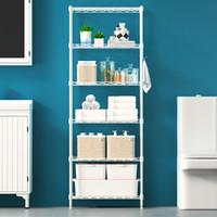 空间生活 置物架六层客厅厨房浴室层架收纳架子WJM30160-6WH白色