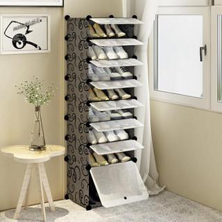 安尔雅(ANERYA) 简易鞋柜 简约现代成人鞋架创意组装防尘收纳柜 多功能大容量柜子 *2件