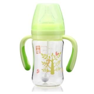 gb 好孩子 母乳实感宽口径 映入吸管玻璃奶瓶 180ml *3件