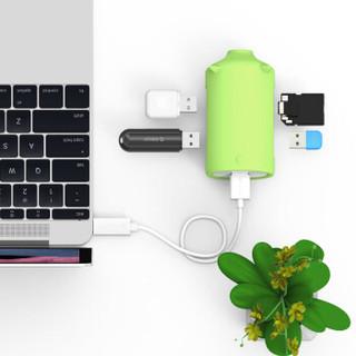 ORICO 奥睿科 H4018-U3 猪年纪念款 猪形USB集线器 (绿色)