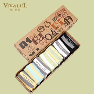 唯路易(VIV&LUL)儿童袜子 七色组盒装130cm