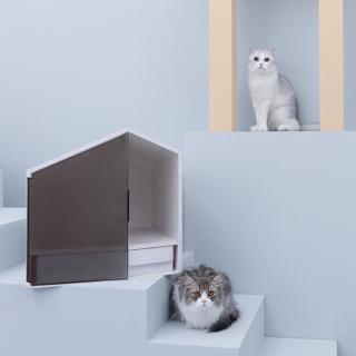 FURRYTAIL 尾巴生活 XZ-maoshapen 半封闭式猫厕所 白色