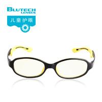 Blutech 美国儿童防蓝光辐射护目电脑手机护眼小孩男女轻近视眼镜 (蓝色、通用)