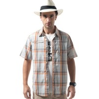 LONSDALE 龙狮戴尔 zx113205327 男式短袖格子衬衫