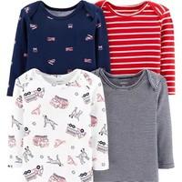 Carter's 男童短袖连体衣 4件装