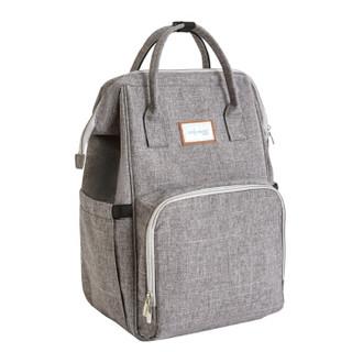 佳韵宝妈咪包双肩多功能大容量时尚外出母婴包背包手提包 烟雨灰
