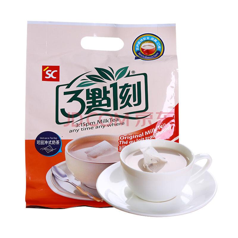 3點1刻 袋装奶茶2袋 经典原味奶茶 (原味+炭烧、袋装、30小包、600g)