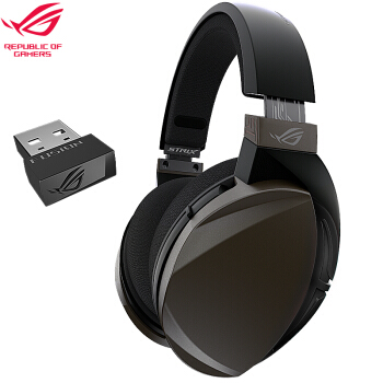 ROG 玩家国度 ROG聚变无线 游戏耳机 头戴式 黑色