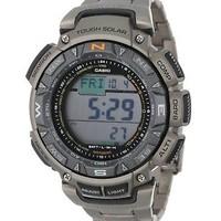 银联专享 : CASIO 卡西欧 ProTrek Pathfinder PAG240T-7 男士太阳能运动腕表
