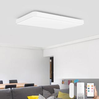 Yeelight 皓石LED智能吸顶灯Pro纯白版语音控制米家APP调光调色简约时尚客厅卧室吸顶灯长方形灯吸顶灯大尺寸