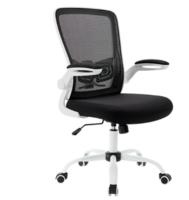 八九间 TO-521-W-B  电脑椅(白框黑网-活动扶手)