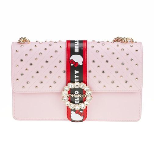 Pinko 品高 Hello Kitty合作款 1P214GY4HC 女士燕子包