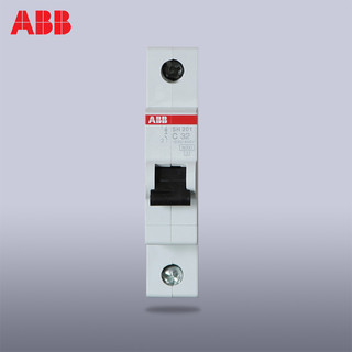 ABB小型断路器单进单出空气开关1P32A单片单极空开SH201-C32 *5件