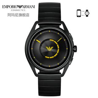 阿玛尼(Emporio Armani)手表 第4代郑恺明星同款欧美智能触屏腕表钢带男独立GPS定位心率监测快充新品ART5007