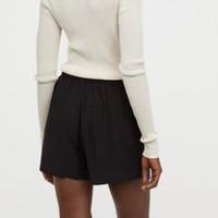 H&M 0619580 女装高腰短裤