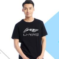 LI-NING 李宁  男子运动短袖